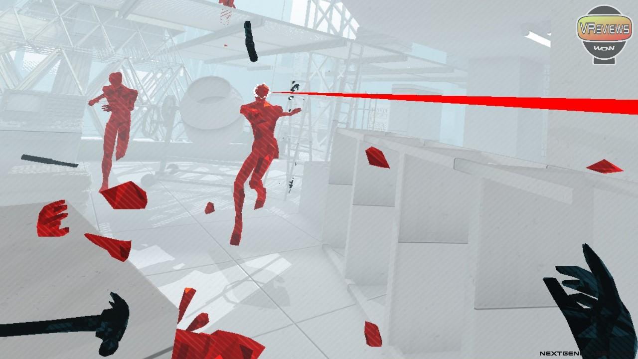 SuperHot VR in-game screenshot