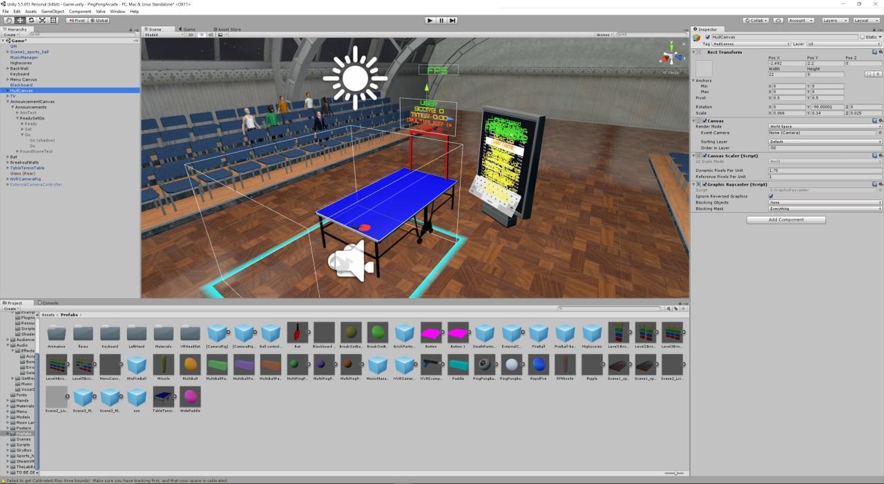 Unity development screenshot